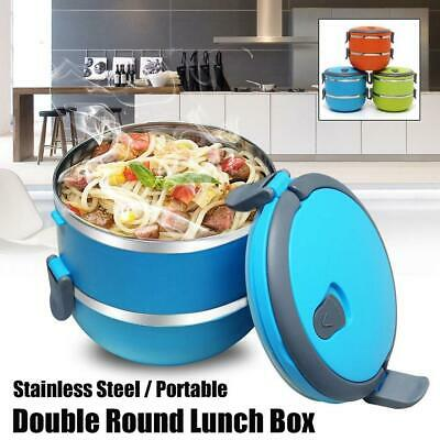 AU14.95 • Buy Lunch Box Bento Thermos Heat Food Container Portable Food Warmer Compact O9O2