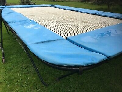 £1500 • Buy COMPETITION OLYMPIC CLUB TRAMPOLINE 8FT X15FT SHIFTING WHEELS GARDEN ACTIVITY