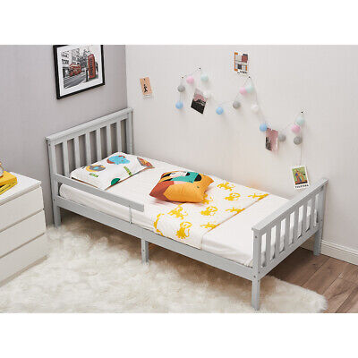 £30.99 • Buy Bed Frame Pine Wooden 3ft Single Bed Frame With Handrail Guardrail For Child Kid
