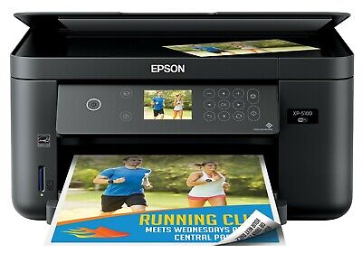 View Details Epson Expression Home XP-5100 Wireless All-In-One Printer - Black - New  • 94.99$