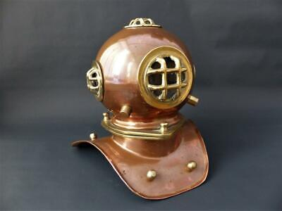 £74.99 • Buy Vintage Copper Diving Helmet With Brass Attachments