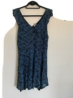 AU18 • Buy UK Size 18 ASOS Fit And Flare Blue Lace Dress