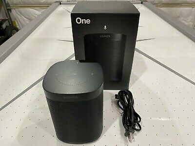 AU173.83 • Buy Sonos One (Gen 2) Voice Controlled Smart Speaker Alexa & Google Built-in - Black