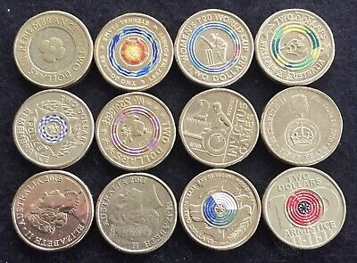 AU34.34 • Buy Collection 12x  Different $2 Dollar Coins Circulated/uncirculated