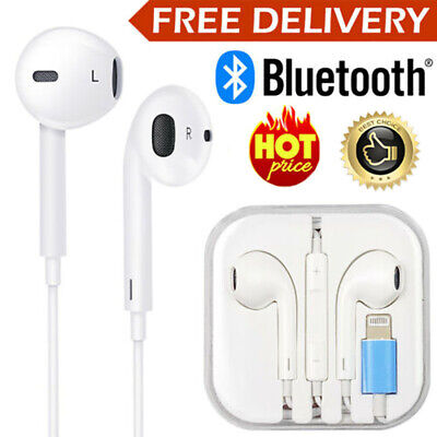 AU11.79 • Buy Wired Bluetooth 8pin Earphones Headphones Mic For Apple IPhone12 11 8 7 X Xs XR
