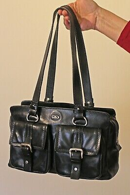 Black Leather Hand Bag By The Bridge • 80£