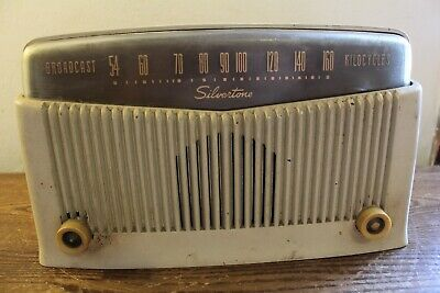$ CDN25.11 • Buy Old Sears AM Silvertone Table Top Tube Type Radio Catalog #9006 Chassis #132.858