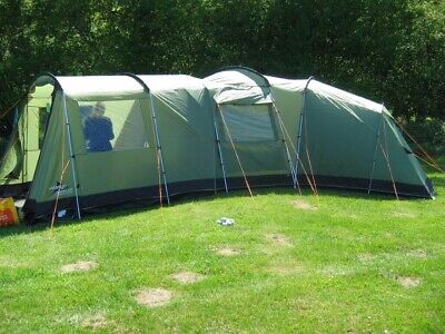 6 Person Vango Family Tent, Porch, Carpet And Footprint • 136£