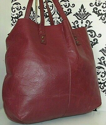 AU1.79 • Buy Large John Lewis Real Leather Shopper Satchel Slouch Shoulder Bag Handbag/purse