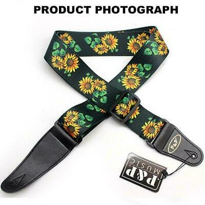 AU8.30 • Buy Sunflower Flower Guitar Strap Belt Electric Acoustic Kansas Ukulele Tool E0R1