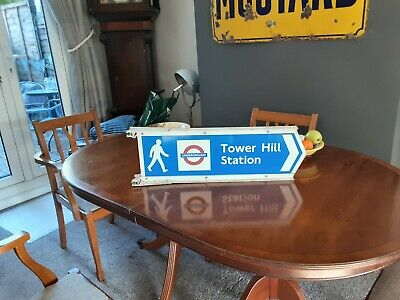 London Underground Road Sign Tower Hill Tube Station  • 70£