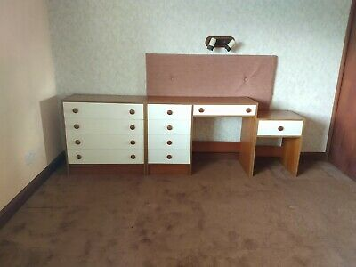 £50 • Buy Used White Fronted Bedroom Furniture Set