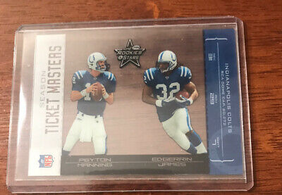 $9.99 • Buy 2004 Leaf Rookies/Stars Ticket Masters Silver Season P. Manning/E. James #'D/750