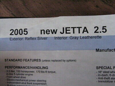 $23 • Buy 2005 VW JETTA DIESEL Owner's Manual COMPLETE In Leather Notebook