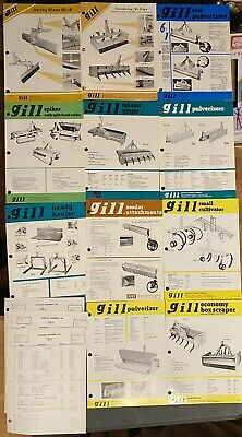 AU10.28 • Buy Vintage Gill Equipment Tractor Implements Brochures & Price Lists LOT.