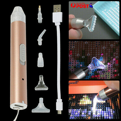 AU9.99 • Buy 5D Diamond Painting Pen Diamond Painting Tool LED Light Point Drill Accessories