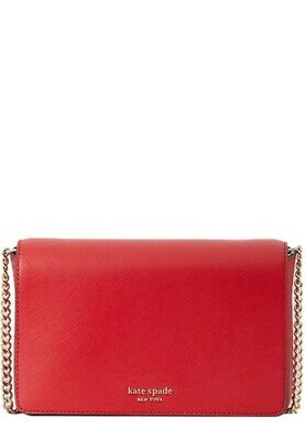 $ CDN75.31 • Buy Kate Spade Spencer Hot Chili Leather Chain Crossbody Wallet Clutch Bag