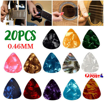 AU3.99 • Buy 20x Acoustic Electric Guitar Celluloid Picks Plectrums 0.46 Mm Thick Pick Thins
