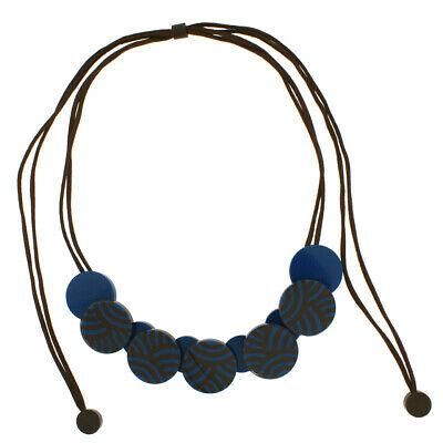 AU41.95 • Buy ZSISKA ROUNDABOUT  ADJUSTABLE NECKLACE. 5 MEDIUM BEAD. Assorted Colors Available