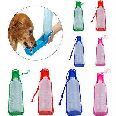 Pet Dog Cat Water Bottle Travel Cup Puppy Feeder Dispenser Drinking Bowl Outdoor • 3.95£