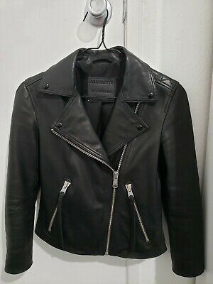AU349 • Buy AllSaints Dalby Leather Jacket. Size 0. With Original Box.