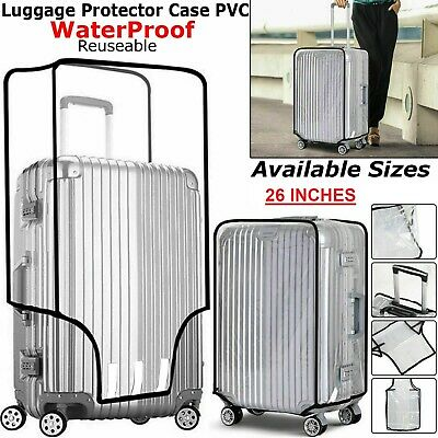 AU6.94 • Buy Suitcase Cover Pvc Transparent Waterproof Travel Luggage Protector Bag 26 Inch U