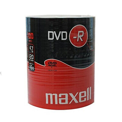 £19.99 • Buy MAXELL DVD-R Blank Recordable Digital Disc DVDR 4.7GB 16x SPEED 120mins 100 Pack