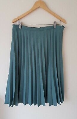 Cotswolds Collection Womens Green Pleated Skirt Size 16 <CX6553z • 9.99£