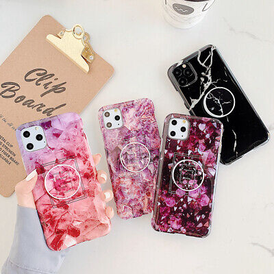 AU12.68 • Buy For IPhone 12 Pro Max 11 XS XR 6 7 8 Plus Girl's Marble Flower Phone Case Cover