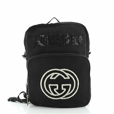 AU1496.58 • Buy Gucci 80's Patch Backpack Nylon Medium
