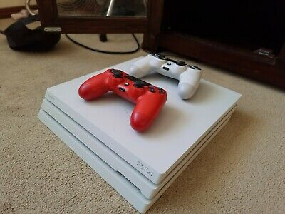 AU299.99 • Buy White PS4 Pro 1TB + 2 Controllers