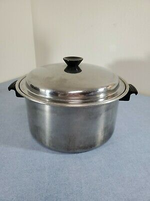 $ CDN41.87 • Buy Vtg Flavor-Seal By Cory 8qt Stock Pot W/ Lid Stainless Steel Cookware