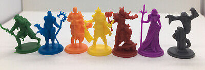 AU3.19 • Buy Lot Of 7 Mini Figures Dungeons And Dragons D&D Miniatures Game Figure