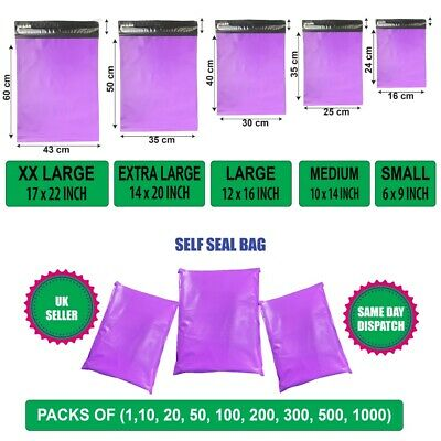 £3.99 • Buy Purple Postal Mailing Bags Postage Coloured Packaging Parcel Shipping Bags Cheap