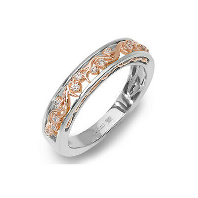 £860 • Buy NEW Welsh Clogau 18ct White & Rose Gold Cecilia Wedding Ring £500 Off! SIZE R