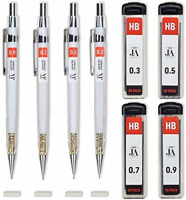 $7.09 • Buy Drafting Pencil Set - Each Mechanical With Erasers Pencils 0.3, 0.5, 0.7, 0.9 Mm