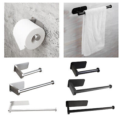 AU17.28 • Buy Self Adhesive Toilet Paper Holder Wall Mount Kitchen Tissue Roll Stand