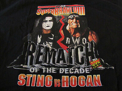 $ CDN875.96 • Buy Extremely Rare STING/HOGAN WCW/NWO VintG SuperBrawl VIII Official CREW Shirt XL