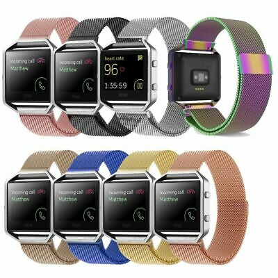 AU15.13 • Buy Milanese Magnetic Wrist Band Bracelet Strap + Metal Frame For Fitbit Blaze Watch