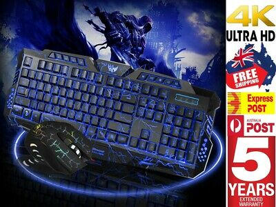 AU33.88 • Buy PC Laptop Gaming Wired USB LED Keyboard And Mouse Combo Bundles Set For PS5 Xbox