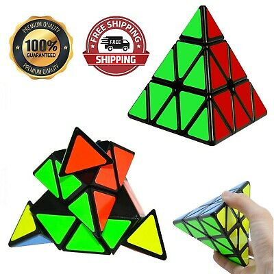 £9.99 • Buy Rubiks Cube Triangle Pyramid Speed Magic Cube Puzzle Twist Toy Stress Brain Game