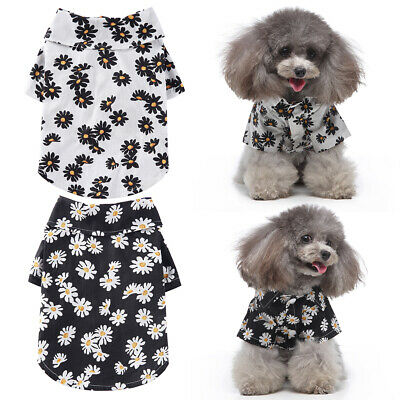 £5.59 • Buy Pet Dog Cat Cute T-shirt Clothes Vest Summer Puppy Costumes Apparel Outfits UK