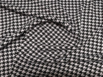 £8.21 • Buy Houndstooth / Dogtooth Ponte Roma Print Stretch Knit Jersey Fabric 150cm Wide