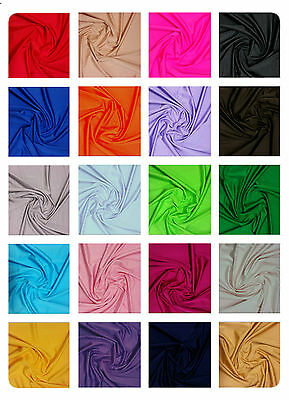 £0.99 • Buy Plain Lycra Spandex Stretch Fabric Material - 150cm (59 ) Wide -- Many Colours