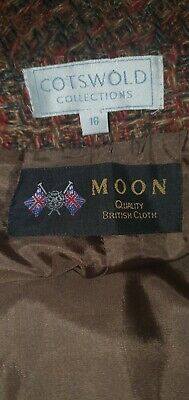 MOON Cotswold Collection Tweed 100% Wool Lined Skirt Size 16 - Immaculate • 21.99£