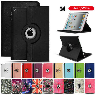 £5.45 • Buy Leather 360 Rotating Smart Case Cover For IPad 8th 7th 6th 5th Air Mini 1 2 3 4