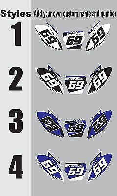$38.99 • Buy Number Plate Graphics For 2000-2001 Yamaha YZ125 250 YZ 125 250 Side Panel Decal