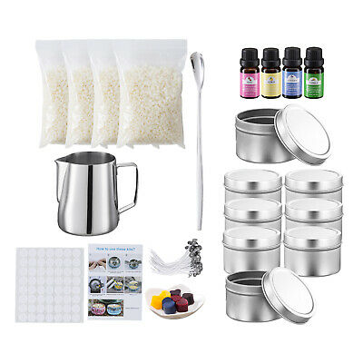£39.87 • Buy Candle Making Kit Make DIY Supplies Wicks Soy Wax Dyes Fragrance Tools