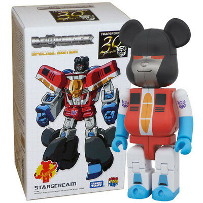 $39.95 • Buy Medicom Takara Tomy Bearbrick Be@rbrick X Transformers Starscream Action Figure