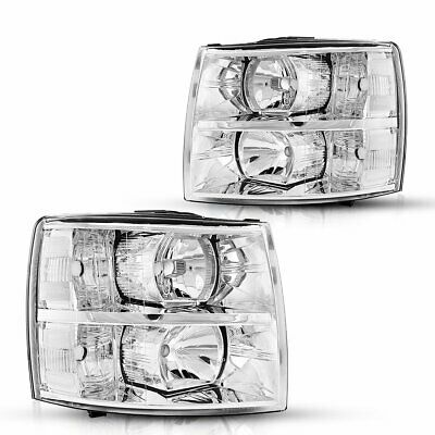 $115.76 • Buy Fits 2007-2014 Chevy Silverado Headlight Assembly 1500 2500HD 3500HD Replacement